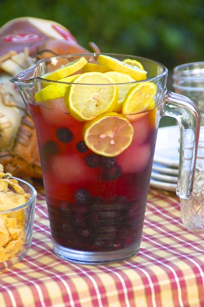 Pitcher of Hard Cranberry Lemonade - 3 cups Absolut Vodka 3 cups cranberry juice 3 cups lemonade 1 cup blueberry pomegranate juice 2 lemons to garnish 1 cup blueberries to garnish - See more at: http://bevmothirstytimes.com/drinks/hard-cranberry-lemonade/#sthash.RgoN0q6n.dpuf