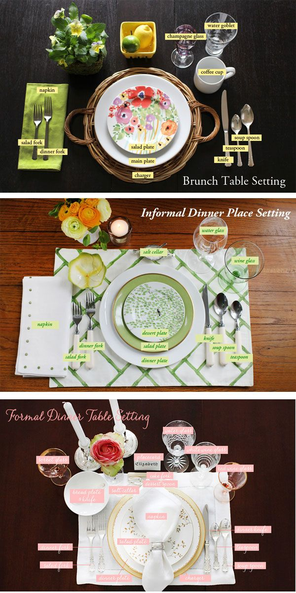 table settings for any occasion | recreativeworks #tablesettings
