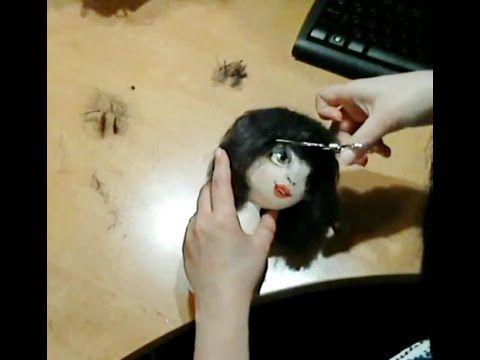 Текстильная кукла  ✿  Волосы для куклы из шерсти  ✿  МК Юлии Наталевич - YouTube