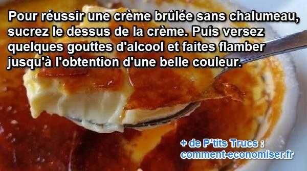 Le Secret pour Réussir une Crème Brûlée SANS Chalumeau.