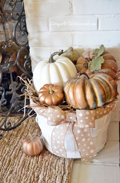A cheap basket, a little paint and some burlap ribbon make this adorable!: