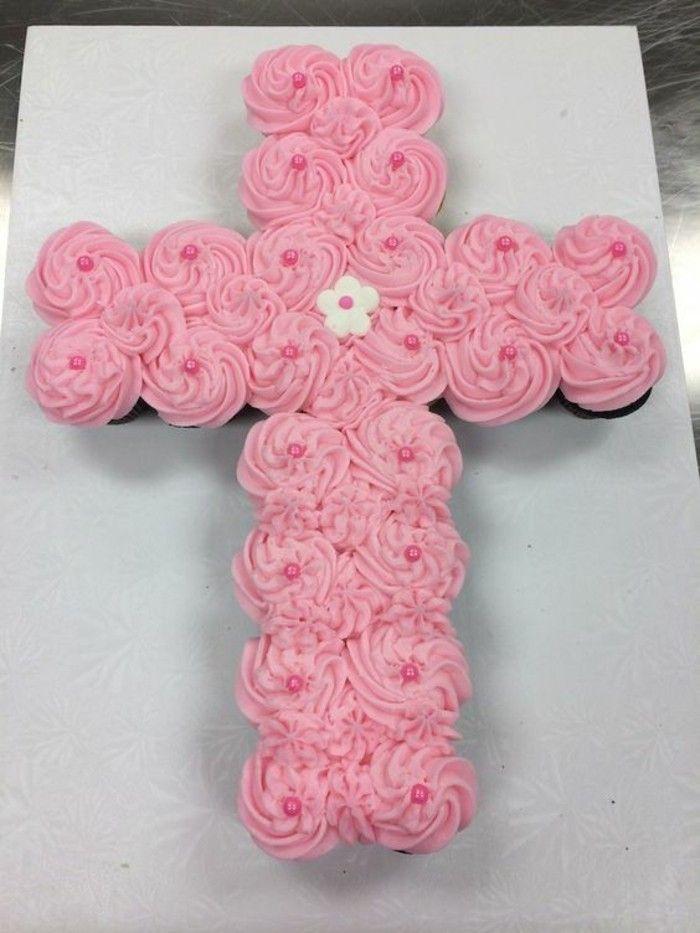 Taufen aus Muffins formen Kreuz   – Kommunion