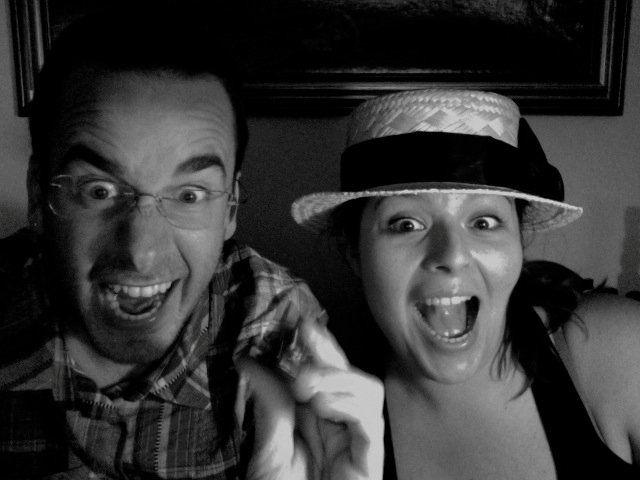 La reazione di @Marco Gava & @Alice Sparaventi per aver scoperto la Sagra dello Stinco a Piandimeleto! #Strufuluffandia non poteva mancare!