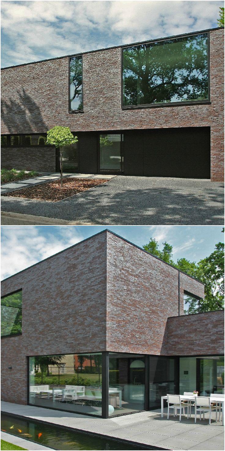 Twee generaties onder één energieneutraal dak • Architect: www.nano-architecten.be (nieuwbouw • modern • plat dak • terras • grote ramen)