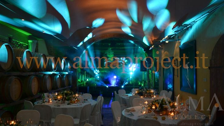 ALMA PROJECT @ Villa Mangiacane - Barriccaia_Cellar _ Stage Moving heads dinner party green tiffany 123