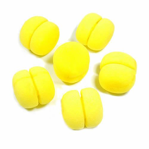 U119 Fre Shipping 24pcs/lot Yellow Balls Soft Sponge Hair Care Curler Rollers