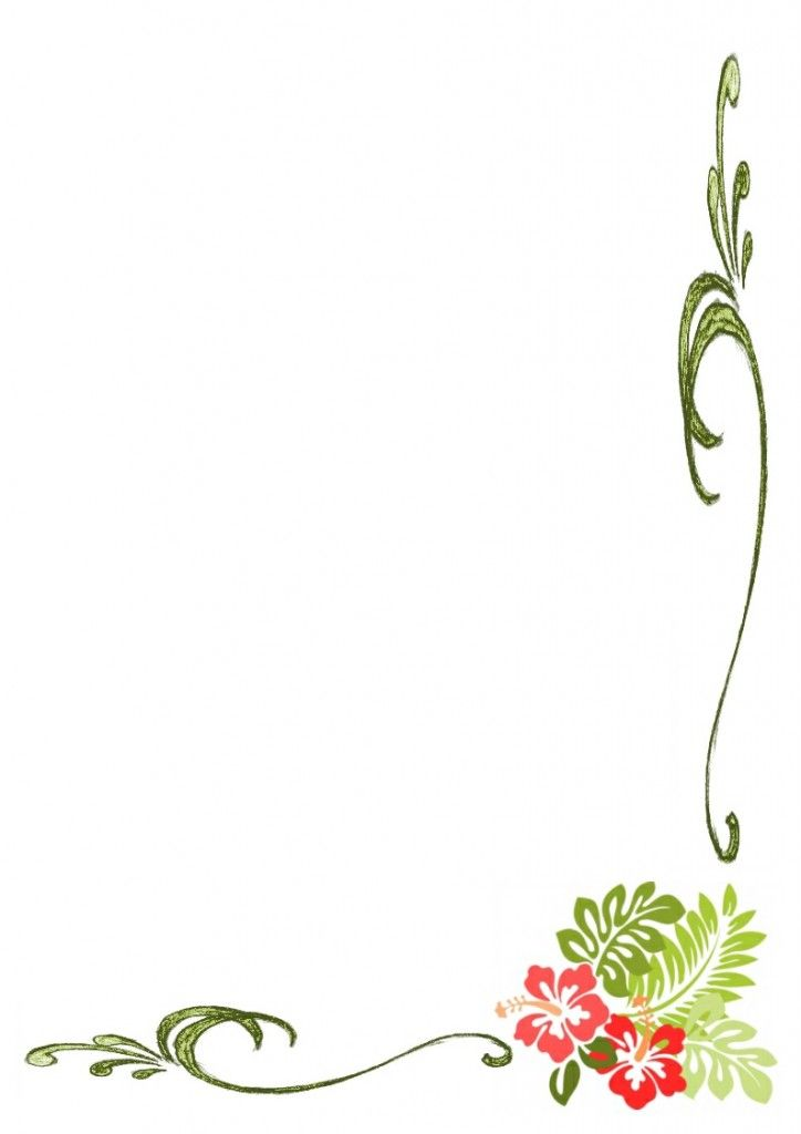 Simple Flower Borders Design HD | Border Designs ...