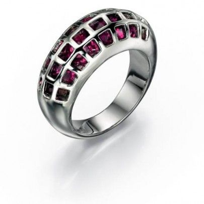 Caged Crystals Pink Ring by Fiorelli Costume Jewellery for Women