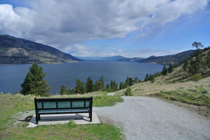 Knox Mountain Paul's Tomb trail in Kelowna, BC. www.SiestaSuitesKelowna.com