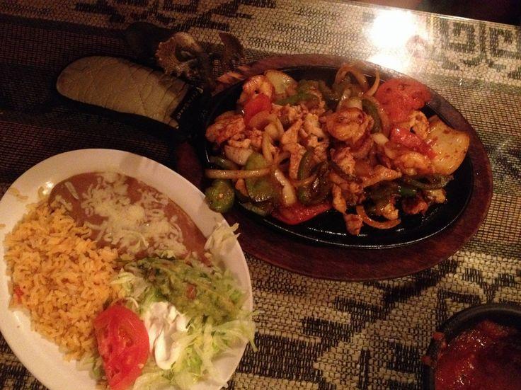 Chicken & Shrimp Fajitas @ Azteca Mexican Grill