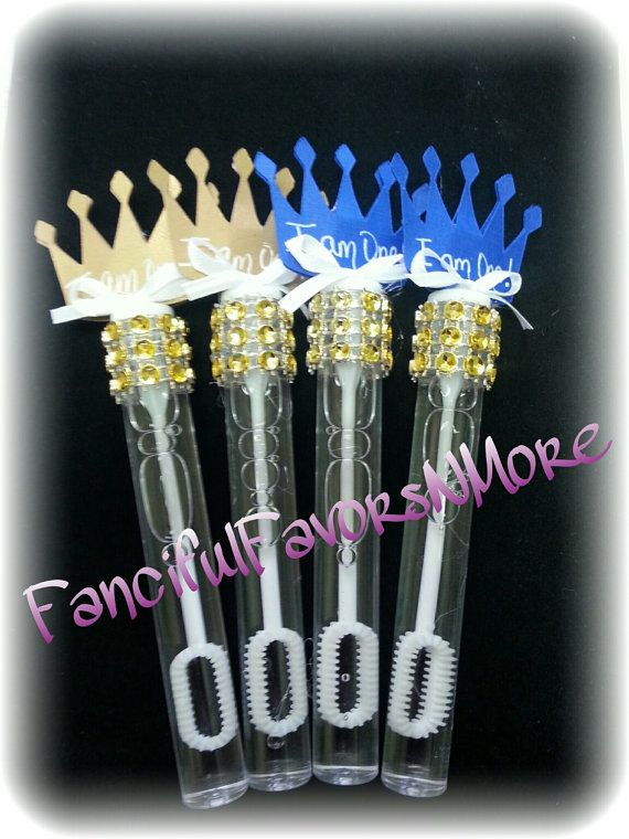 12 Prince Bubble Favors/Bubble Wands by FancifulFavorsNMore