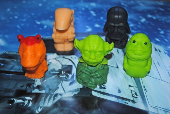 5 x Star Wars Soap  Darth Vader Jabba the Hutt Yoda by NerdySoap