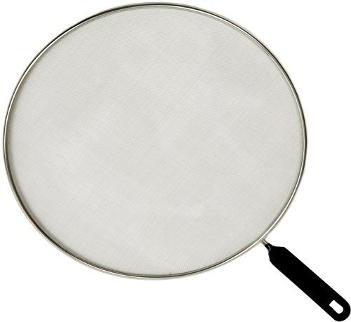 Splatter Screen Frying Pan Splash Guard Strainer Grease Cover Kitchen Mess Protection Stainless Steel Durable Mesh Covers up to 11 Inches Wide Pans Plastic Handle, Set of 1 RUKI Home http://www.amazon.com/dp/B0130GVYMI/ref=cm_sw_r_pi_dp_2LvDwb01F1X6H
