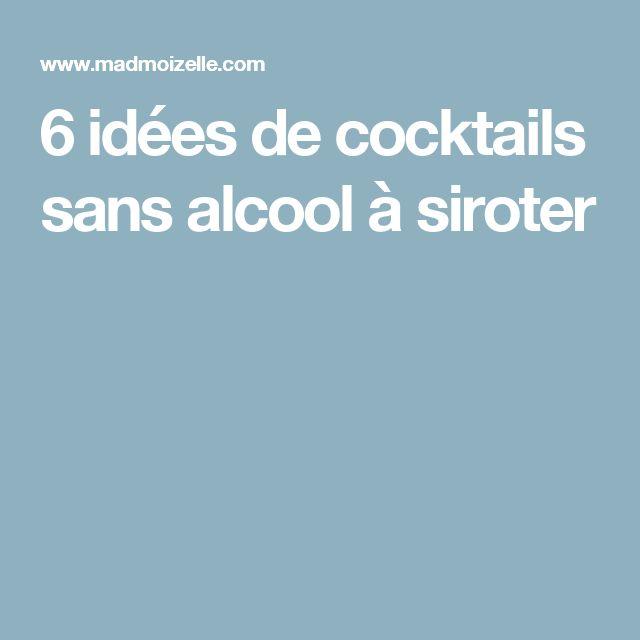 6 idées de cocktails sans alcool à siroter