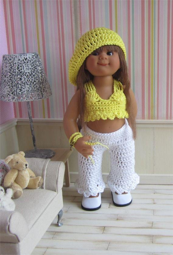 83- FICHE PATRON Tenue Hippie Chic au crochet pour poupée Wichtel : Jeux, jouets par atelier-crochet