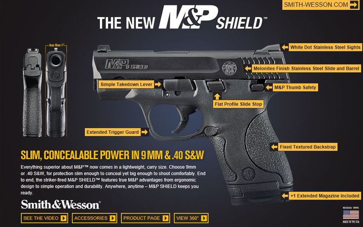 Smith & Wesson M&P Shield 9 mm Find our speedloader now! www.raeind.com or http://www.amazon.com/shops/raeind
