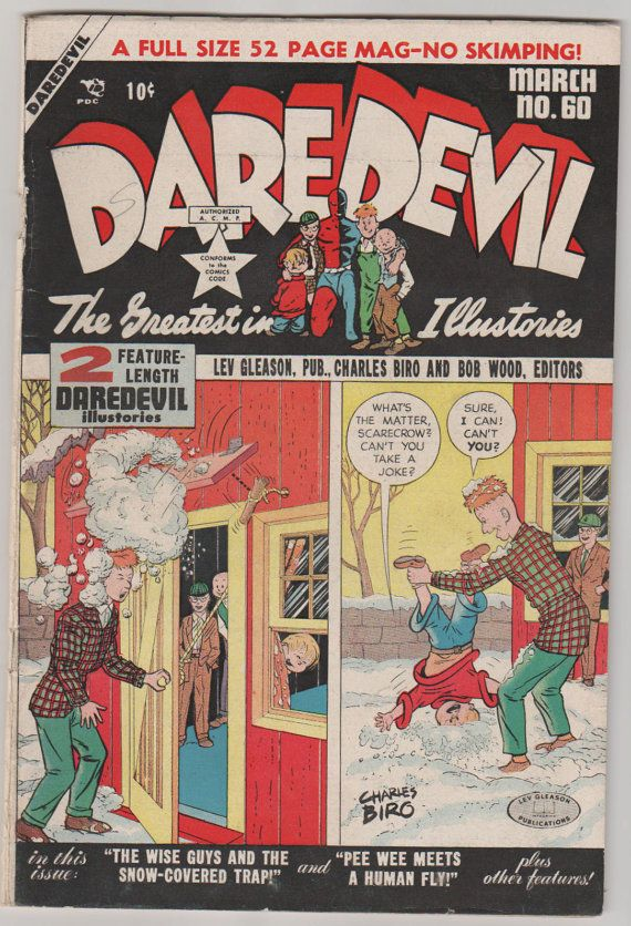 Daredevil Comics V1 60. March 1950.  VG/FN. by RubbersuitStudios, $35.00 #goldenagecomics #charlesbiro #daredevilcomics