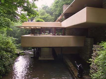 Frank Lloyd Wright's Falling Water captures cool breezes off the creek to provide cooling on hot days.