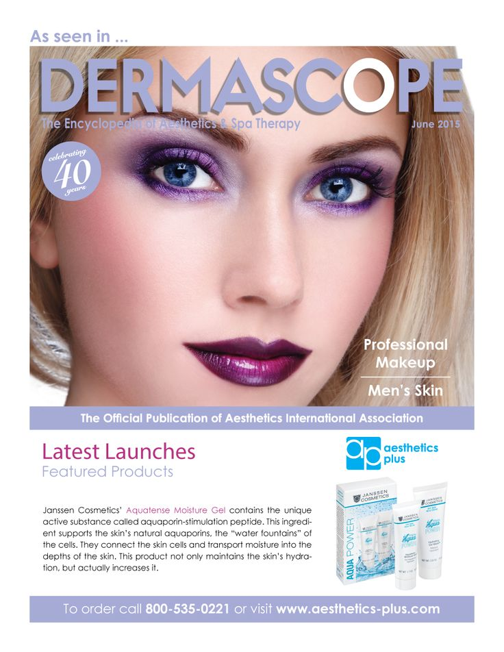 Need extra hydration during the warmer months? Discover Janssen Cometics Aquatense Moisture Gel featured in the June 2015 Dermascope Magazine.