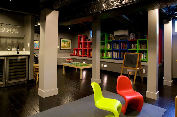 Twin Companies - basements - kids playroom, basement playroom, basement bar area,