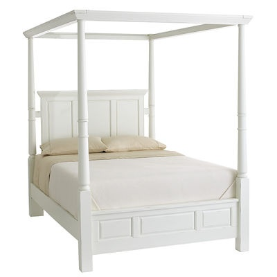 Ashworth king queen beds white pier 1 imports for White canopy queen bed