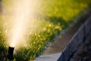 Above-ground sprinklers are an alternative to traditional in-ground sprinklers.