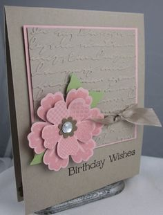 stamp it up pansy punch card ideas - Google Search