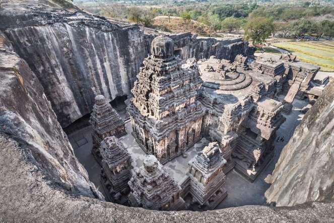 12 - Grutas de Ellora, Índia: este complexo de 34 templos e mosteiros foi escavado junto às paredes ... - Shutterstock