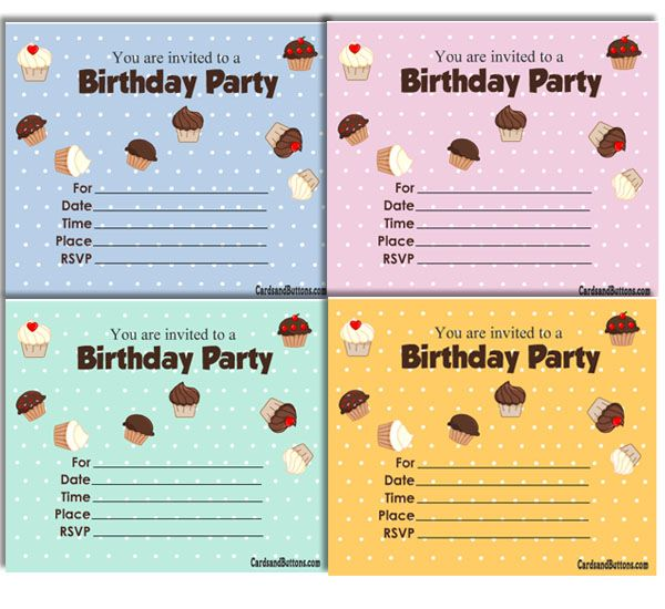 Free Printable Cute Birthday Invitations With Cupcakes