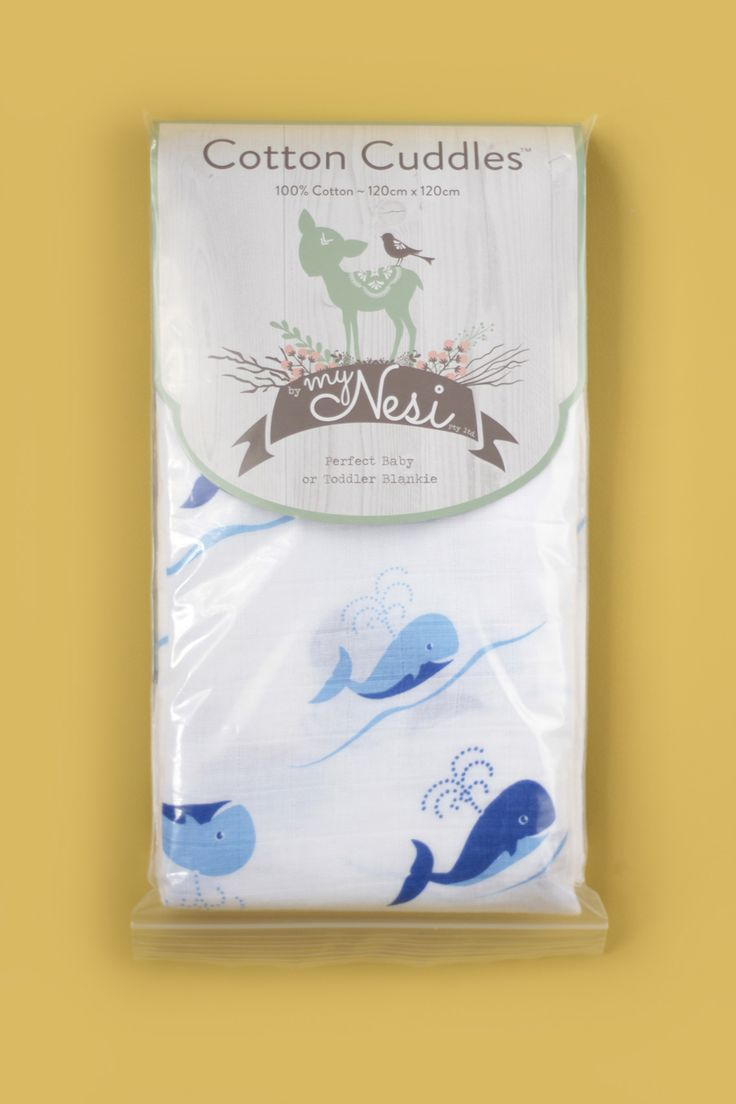 Cotton Cuddles – Blue Whale by @myNesiProducts