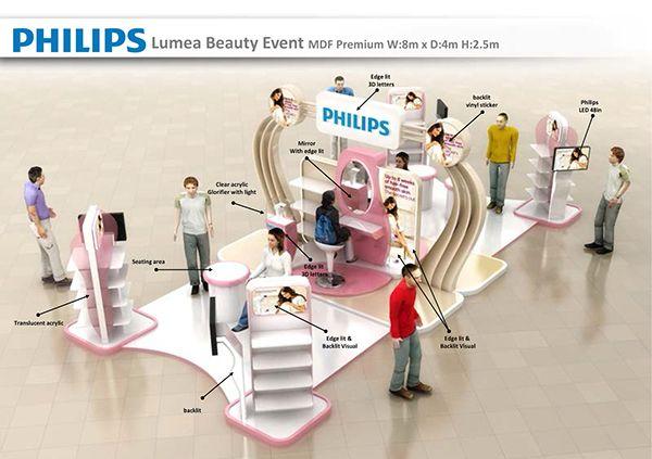 Philips Lumea beauty event on Behance