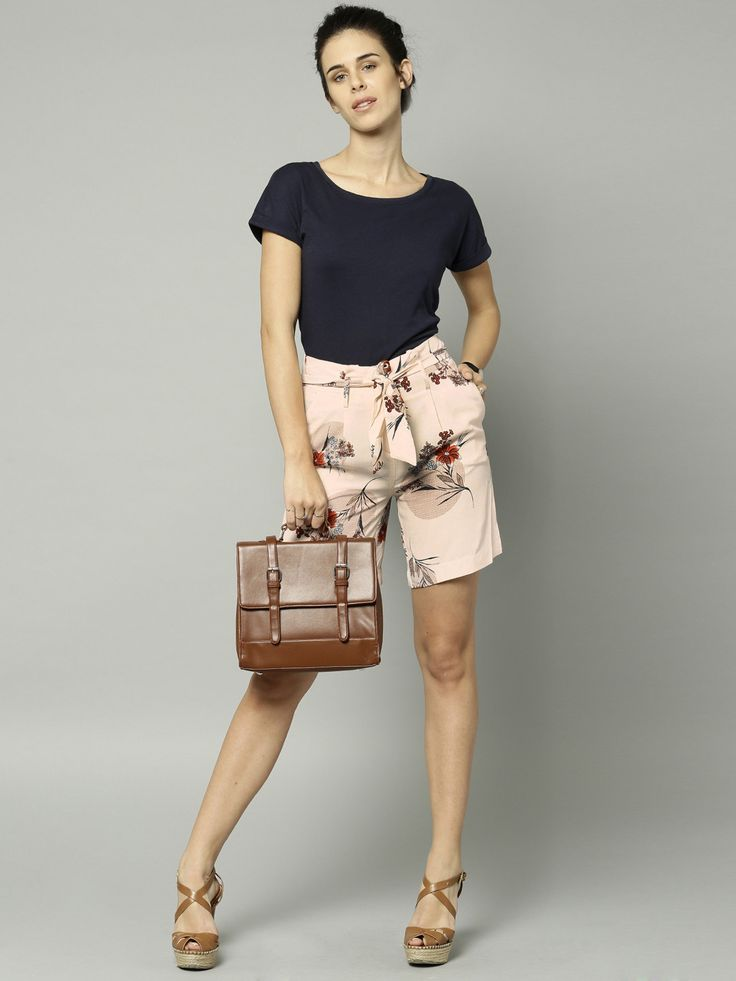 Buy Marks & Spencer Pink Floral Print Shorts #printed #casual