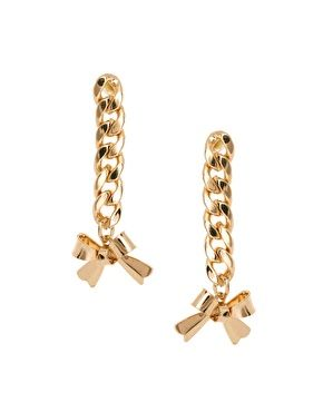ASOS Chain Bow Drop Earrings