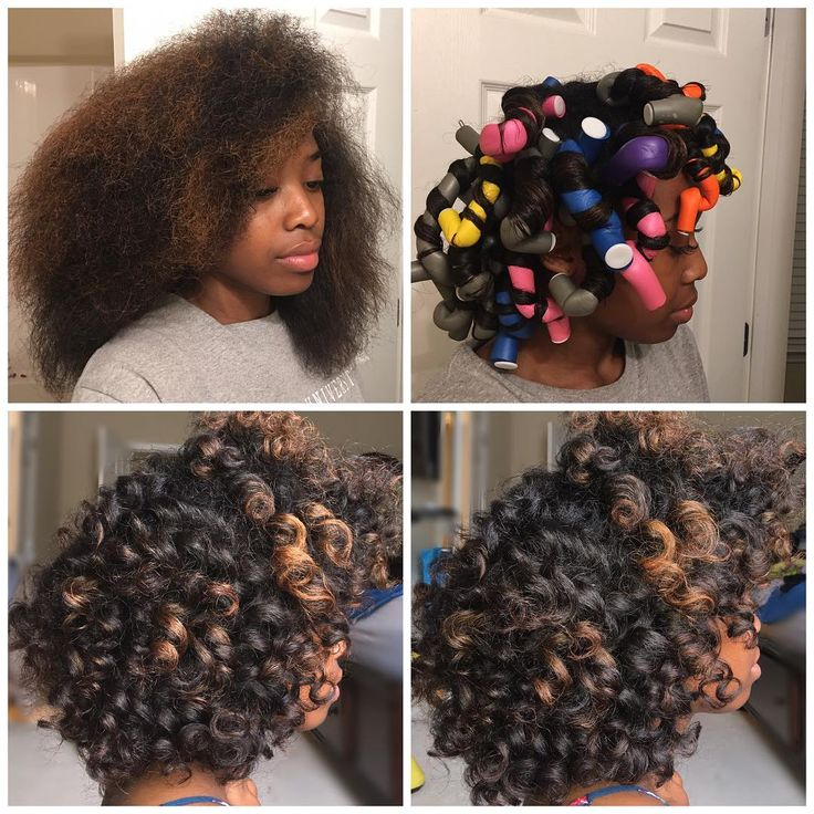 "836 Likes, 44 Comments - Demi Mykal (@_naturallydemi) on Instagram: ""Basically i blow dried my hair last night and added flexi rods. I set the rods with my…"""