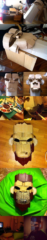 Cardboard monkey mask!