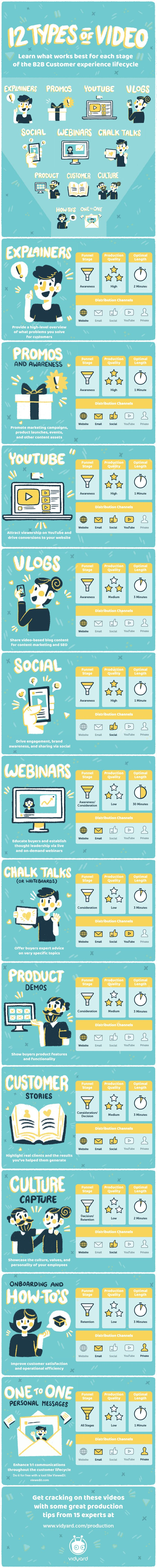 12 Types Of Video #Infographic #Business #Video