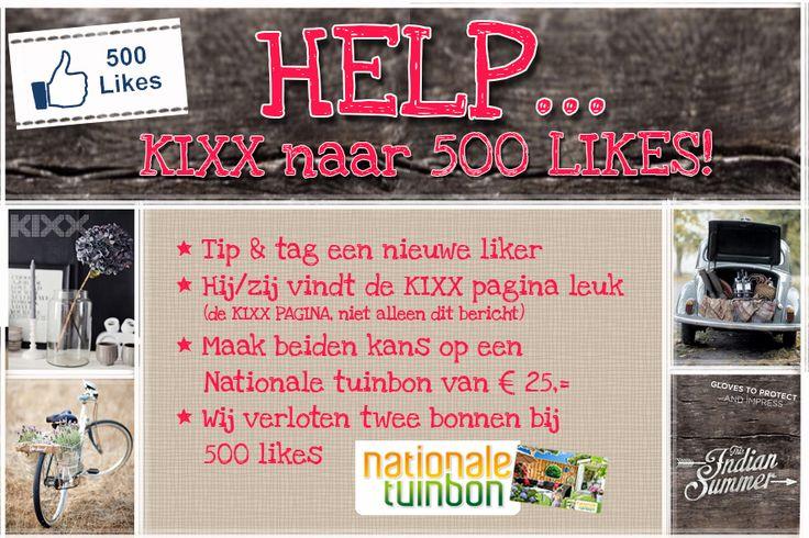 Help KIXX to reach 500 Facebook likes  https://www.facebook.com/kixxsafety?ref=hl