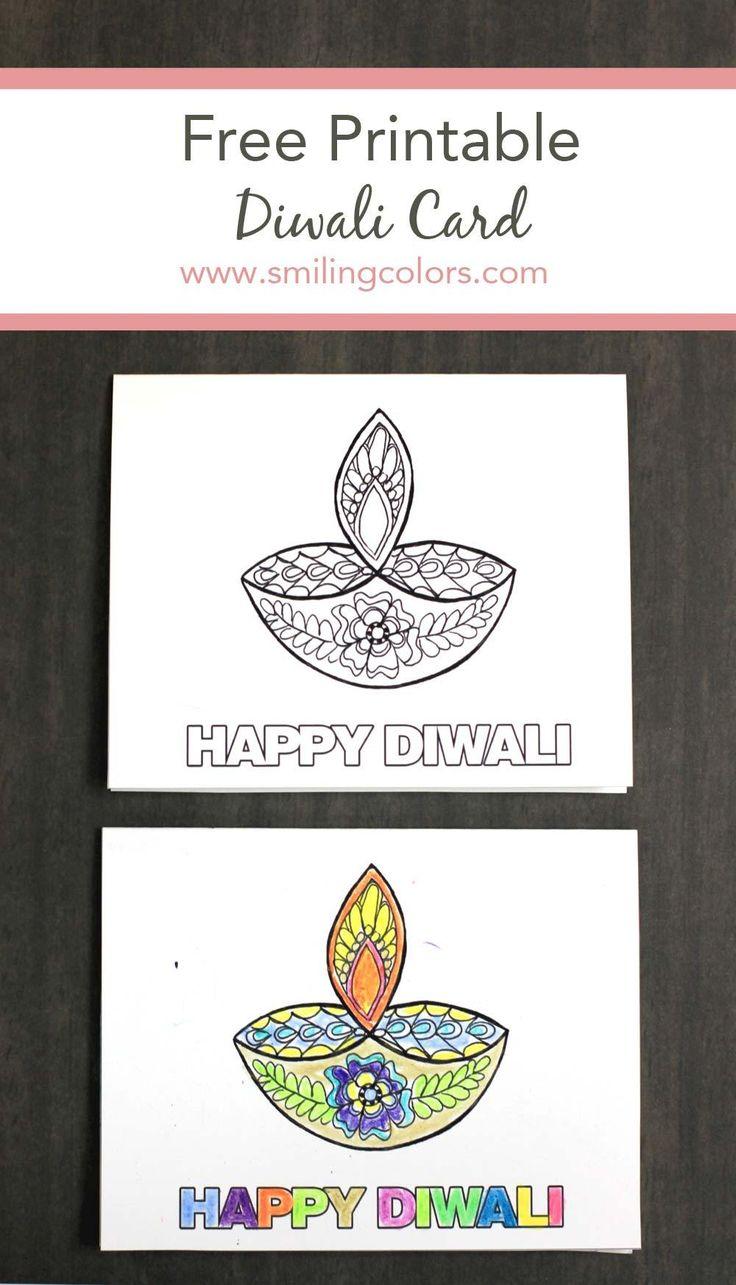 birthday invitation card in hindi%0A Free Printable Diwali Card Smiling colors jpg              pixels