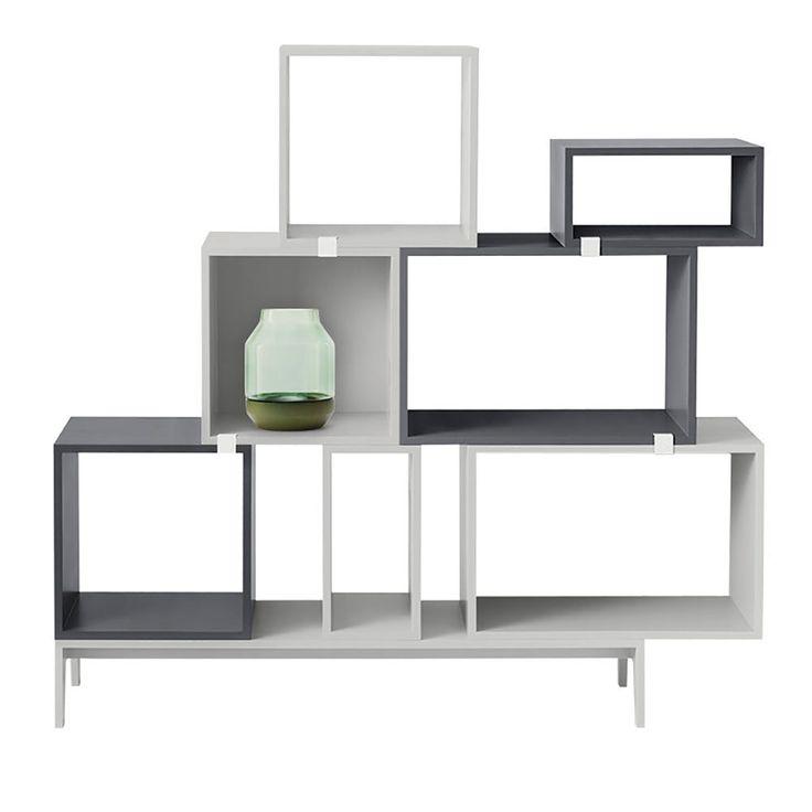 top3 by design - MUUTO NEW NORDIC - muuto stacked shelf open dark grey M