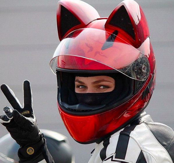 Cat Ear Motorcycle Helmets Motorcycling Motorcycle