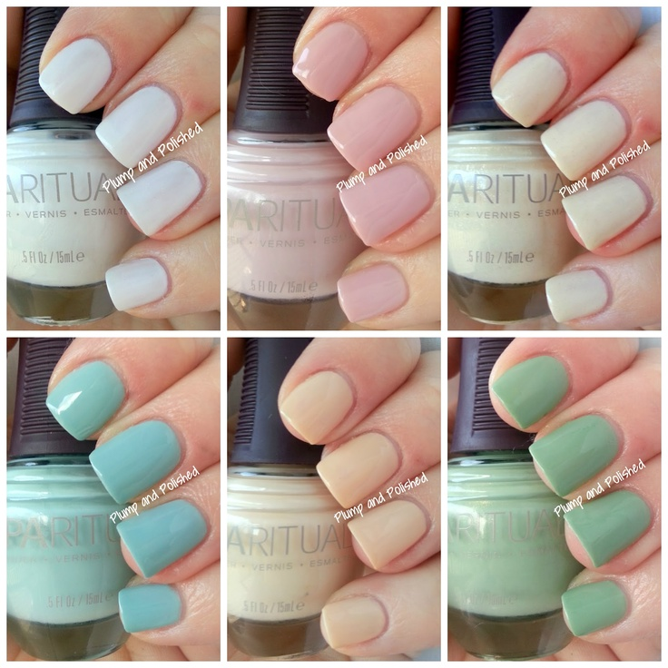 SpaRitual Meditate Collection Spring 2013  Must find at a Canadian Sephora!!  I love these sweet pastels.