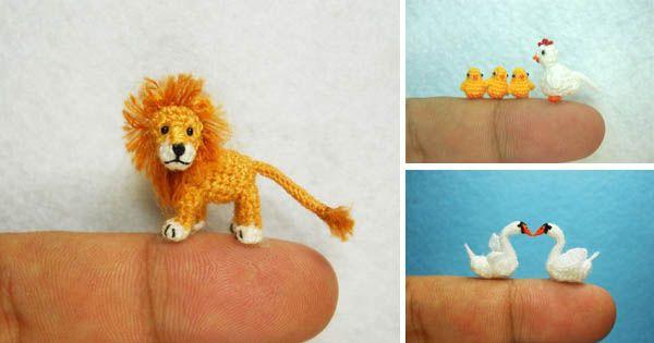 Roztomilé miniatúrne háčkované zvieratká | Handmade od SuAmi