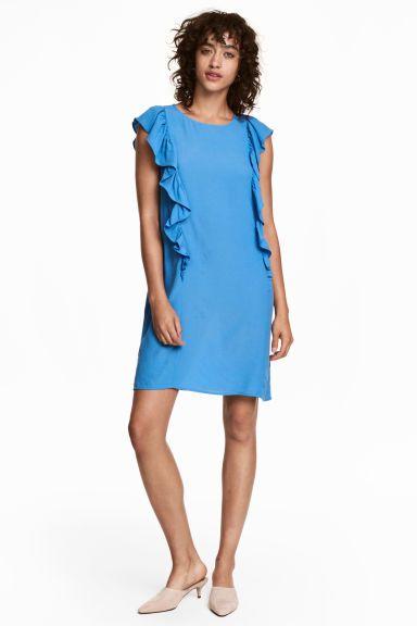Robe à volant - Bleu clair - FEMME   H&M CA