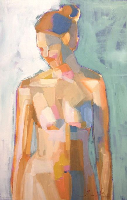 Figure Study LXX by Teil Duncan - I'm loving this color/shape study. Really nice palette and geometric approach.