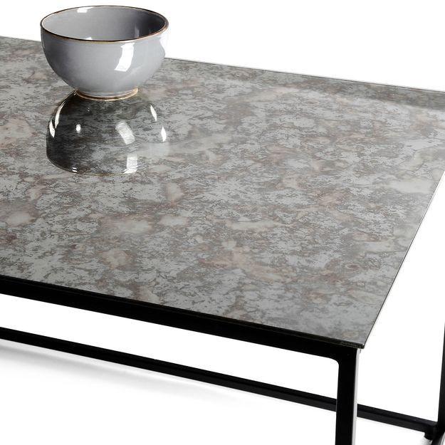 Couchtisch Antikglas 110x43x55cm Schwarz Schwarz Couchtisch Antike Glaser Tisch