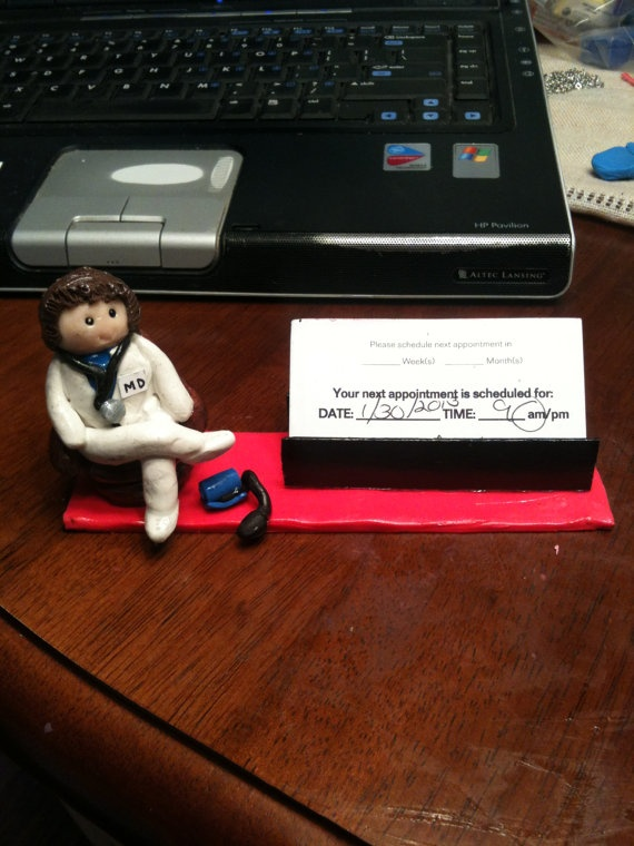 Polymer clay business card holder by CRAFTYLADY962 on Etsy, $20.00