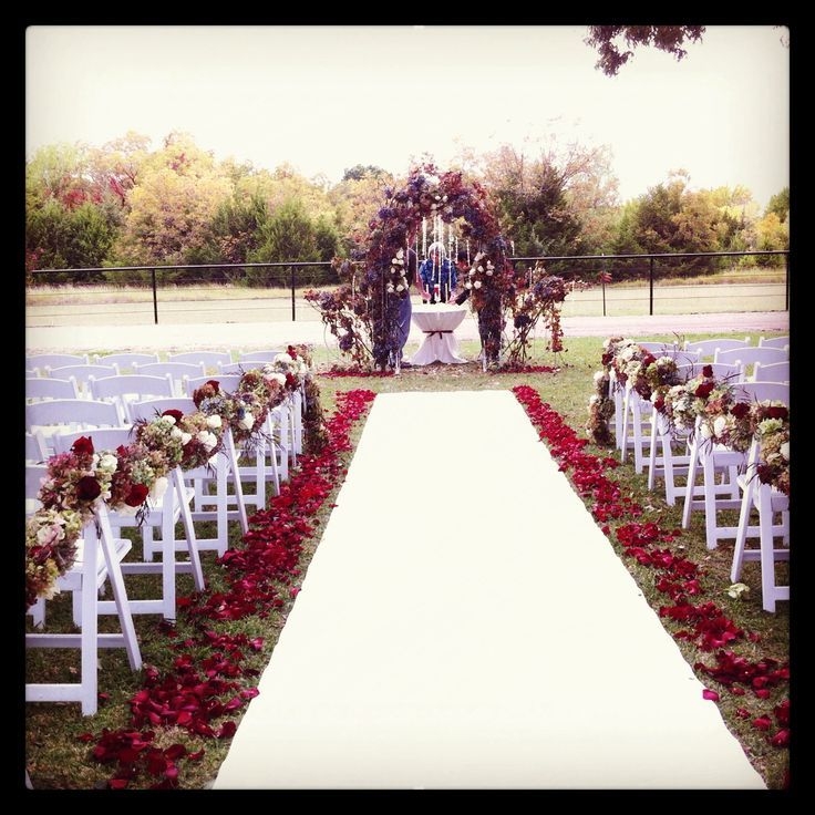 backyard wedding ceremony decoration ideas%0A Roses lining our rose garden ceremony