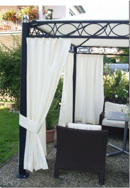 outdoor vorhang nach ma mit sen bis 280 cm hoch garten. Black Bedroom Furniture Sets. Home Design Ideas