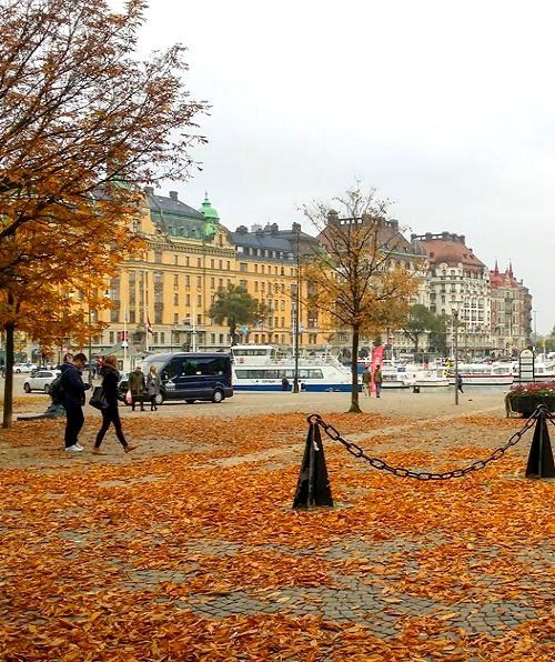 Autumn is a beautiful season in Stockholm, Sweden