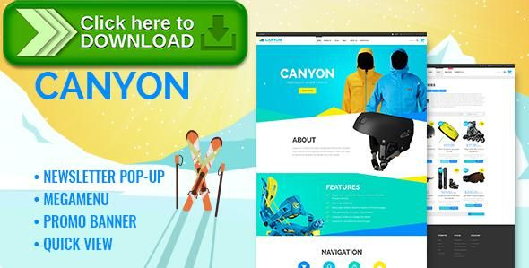 [ThemeForest]Free nulled download Canyon - Responsive Extreme Sportswear Shopify Theme from http://zippyfile.download/f.php?id=5578 Tags: clean, commerce premium, ecommerce, extreme, modern, responsive, shop, shopify, shopify theme, shopping, sports, sports clothing, store